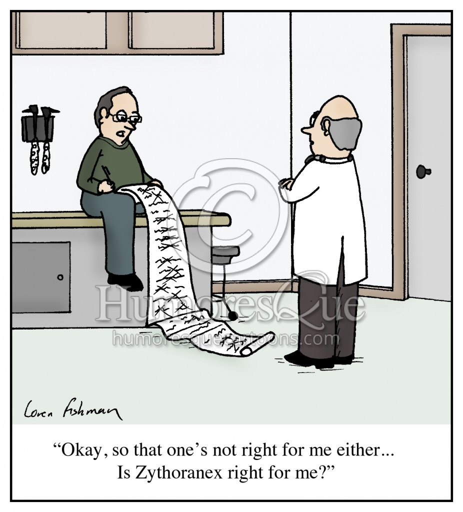 ask your doctor is drug is right for you cartoon