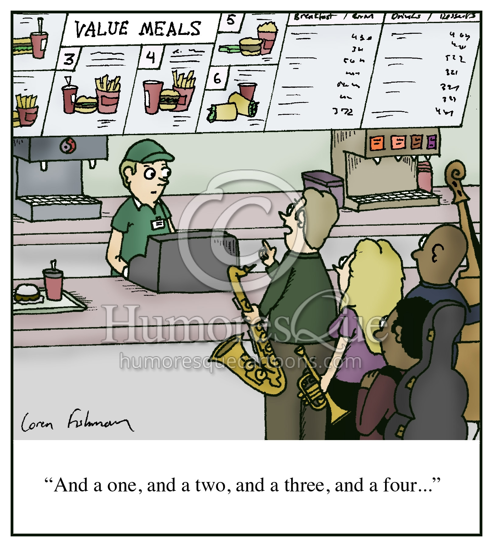 jazz combo meal cartoon