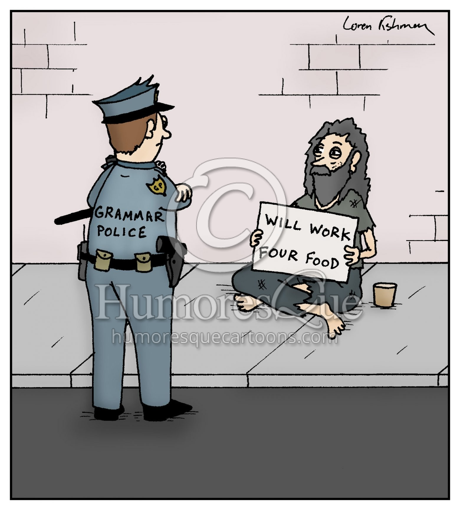 grammar police cartoon