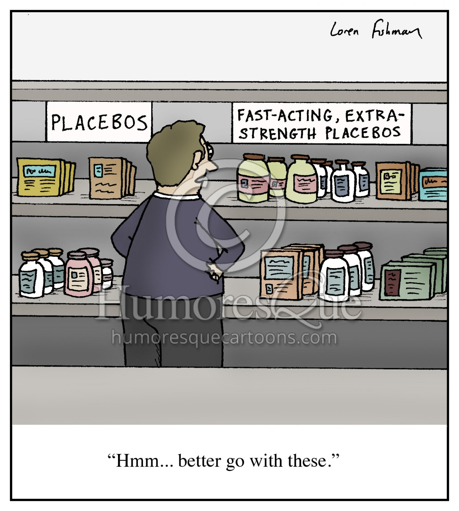 fast acting extra strength placebos cartoon