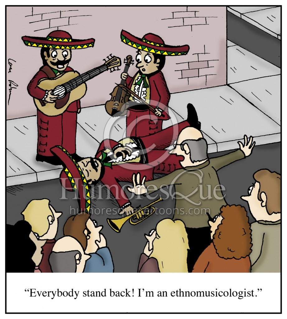 ethnomusicologist professor academic doctorate cartoon