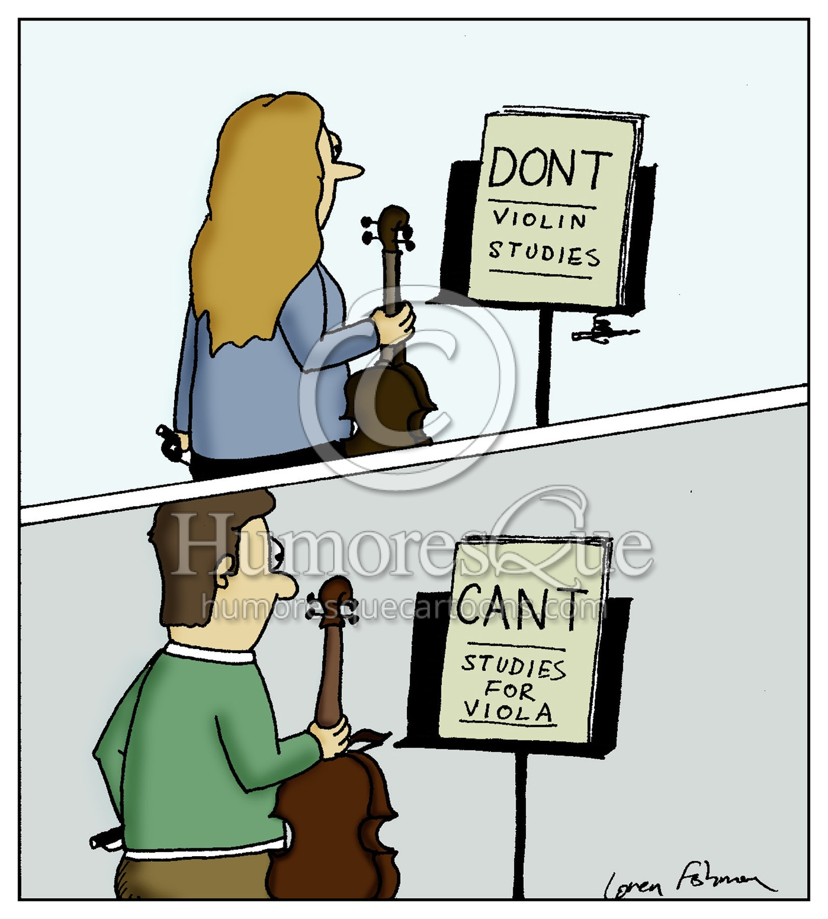 dont violin etudes and cant viola etudes viola joke cartoon