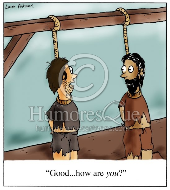 small talk cartoon about guys being hanged