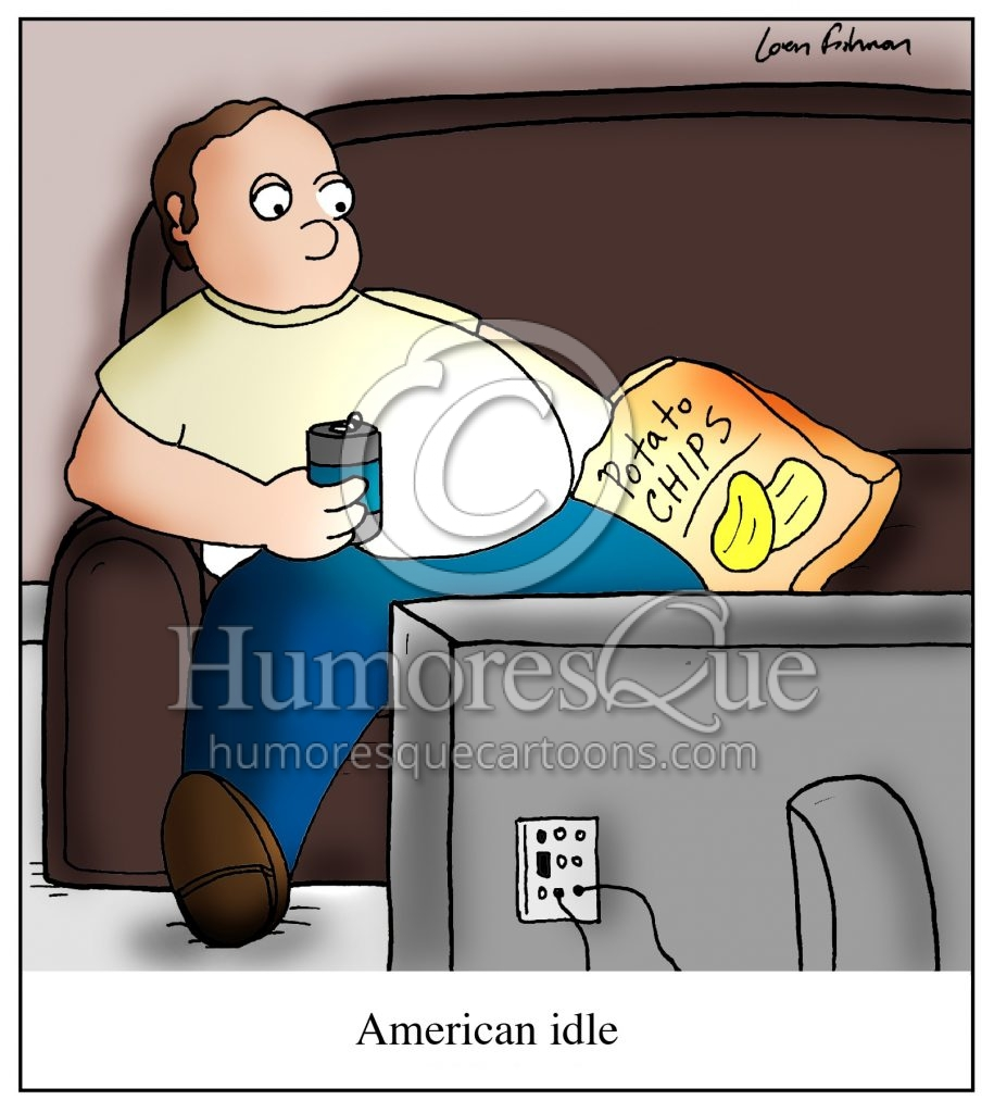 american idle lazy american slob cartoon