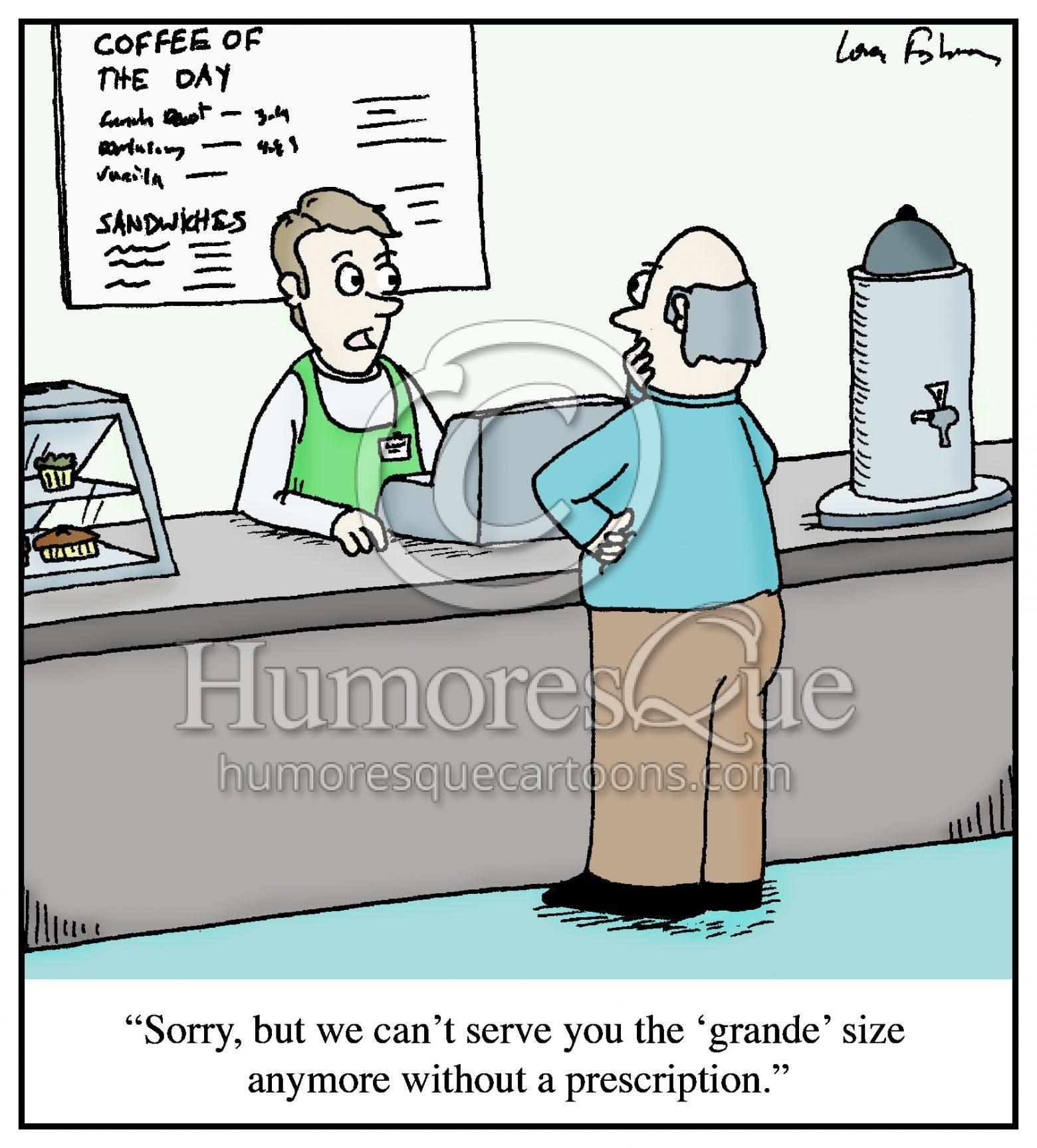 grande coffee prescription drug cartoon