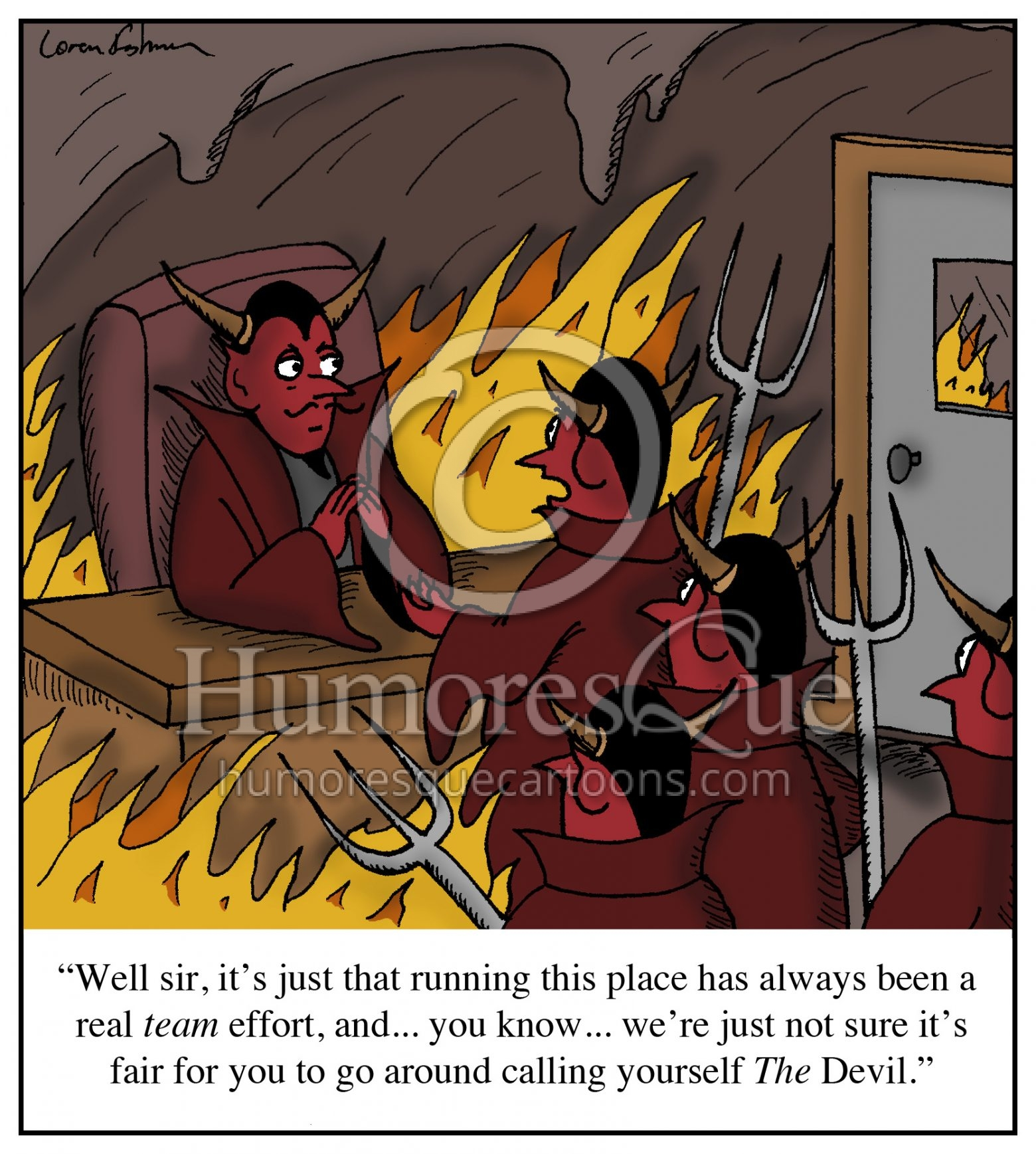 titles and equitable treatment in the workplace devil cartoon