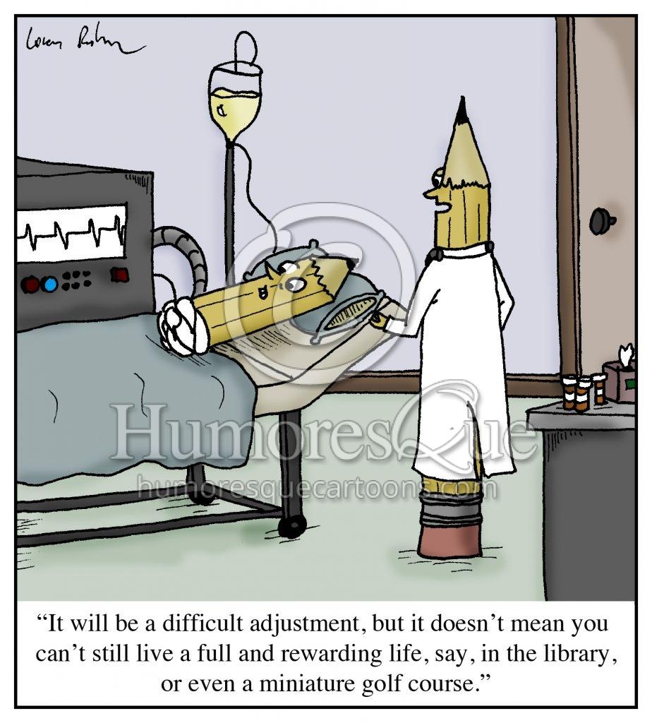 pencil amputation cartoon