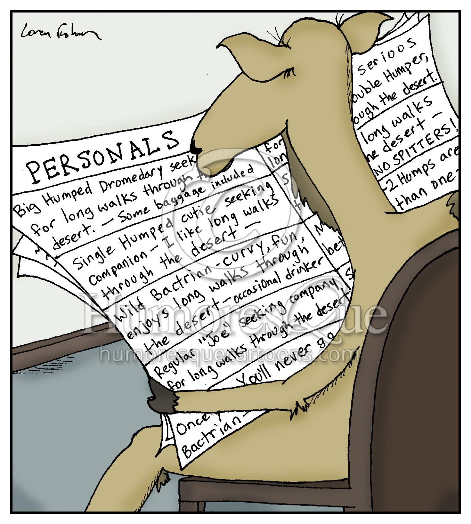 Camel personal ad dating cartoon