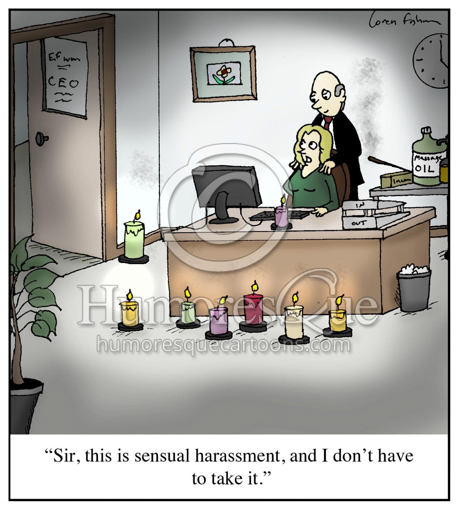 Sensual Harassment office sexism cartoon