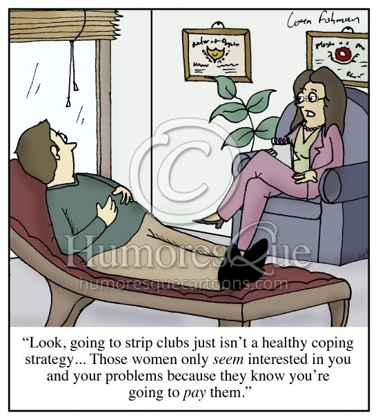 strip club psychiatrist advice cartoon