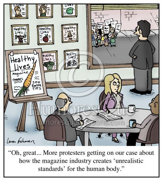 healthy body image protest cartoon