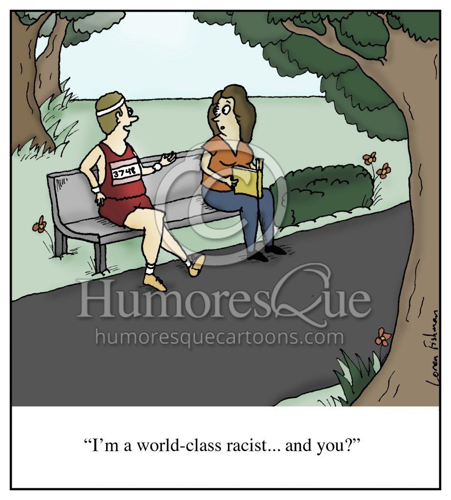 world class racist cartoon
