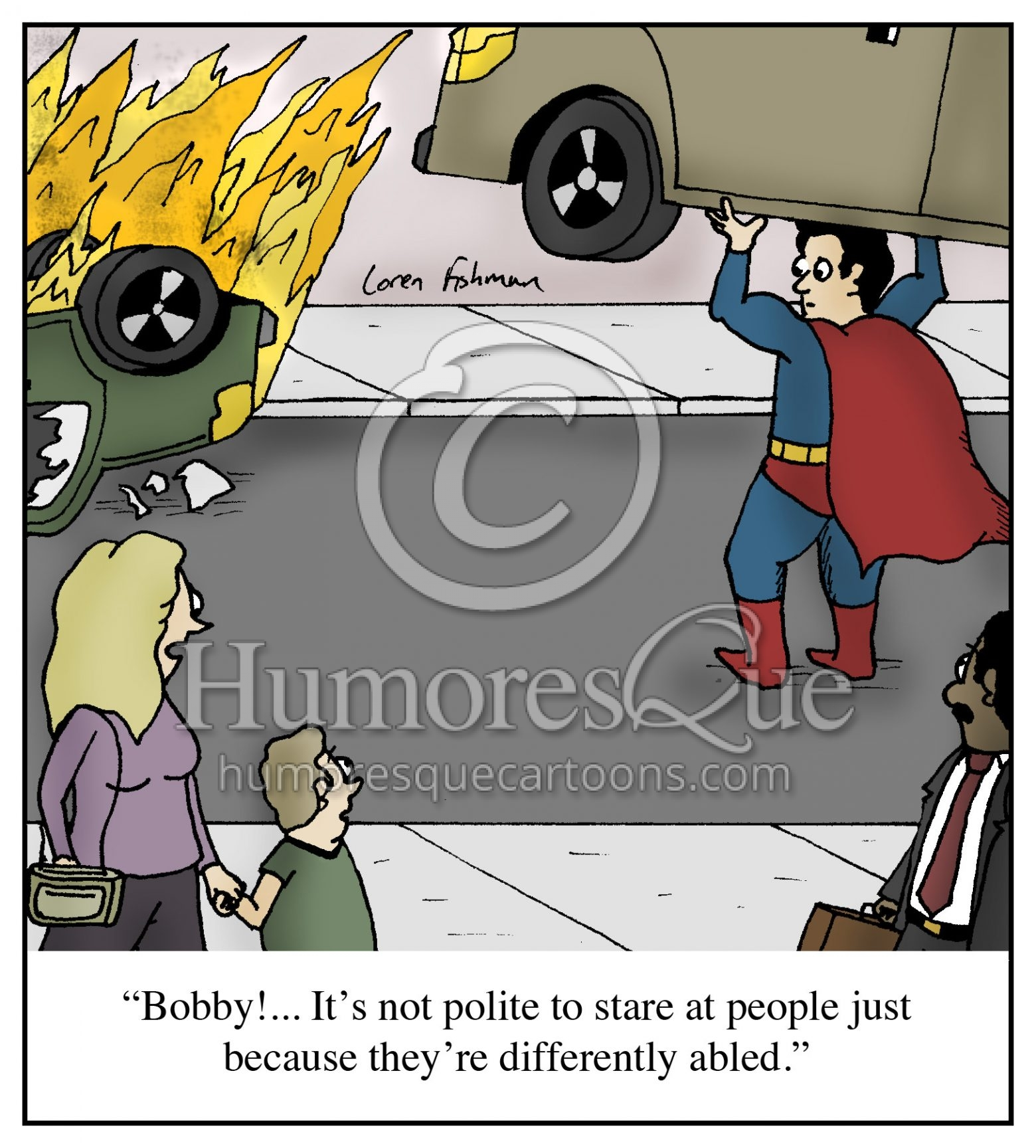calling superman differently abled political correctness cartoon