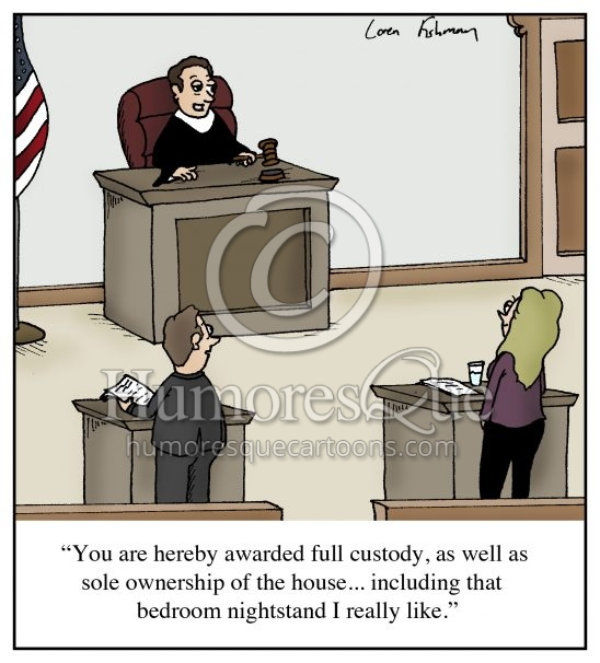 divorce court affair cartoon