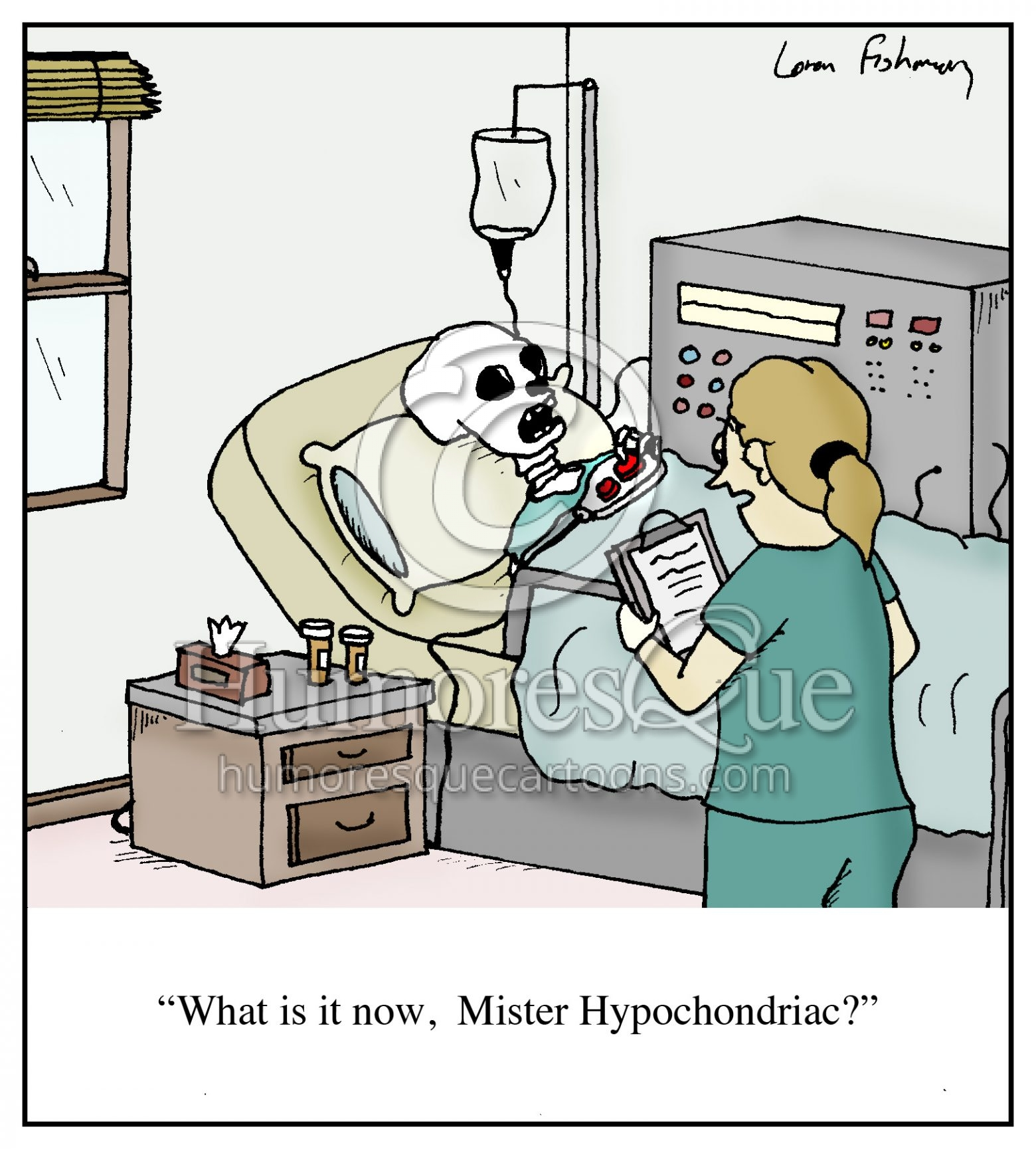 hypchondriac medical nursing cartoon
