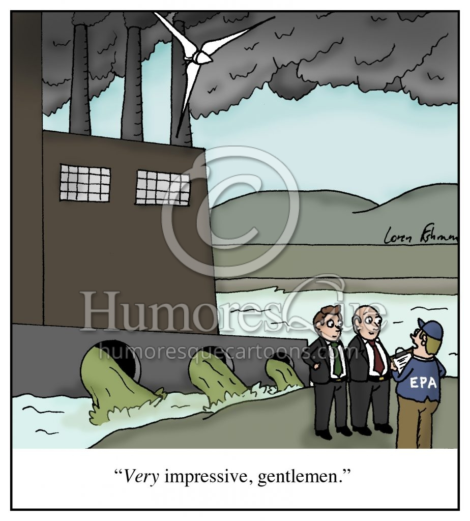 environment pollution regulation climate change cartoon
