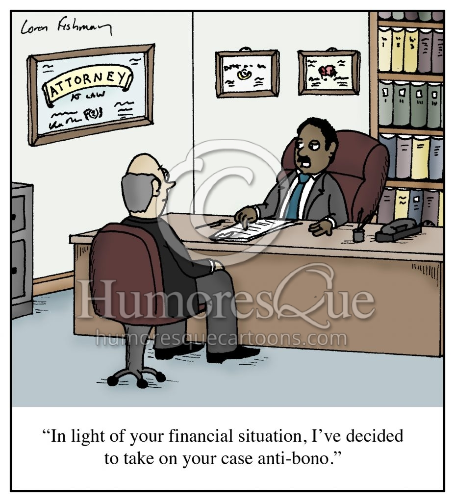 pro bono lawyer cartoon