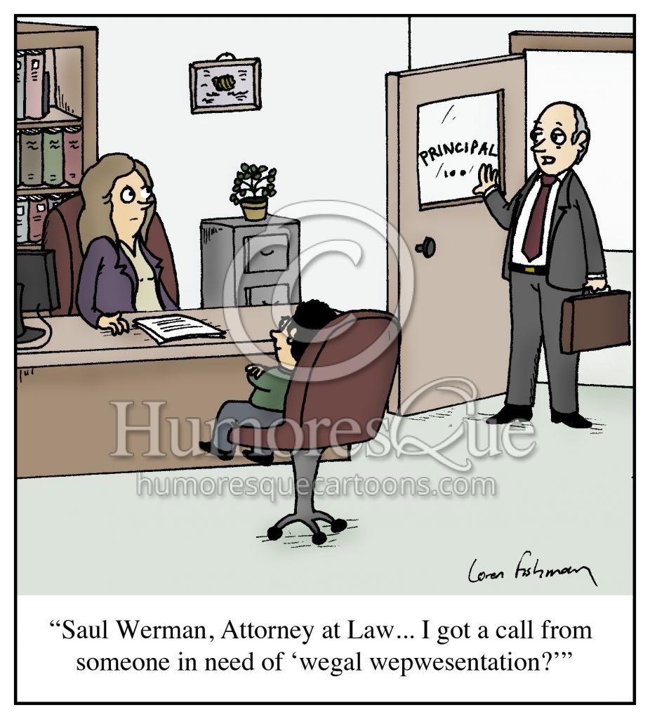 little kid hiring lawyer at school cartoon