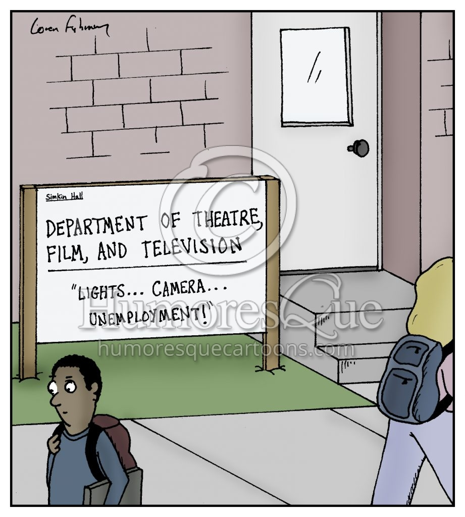 unemployment arts and humanities education cartoon