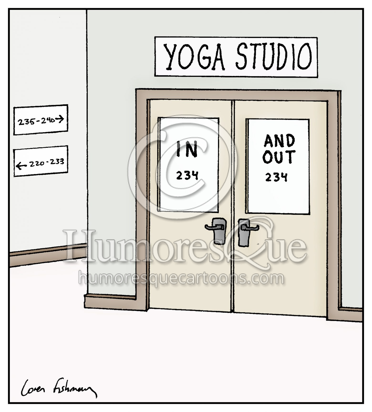 Cartoon Yoga Studio In 234 And Out 234 Humoresque Cartoons