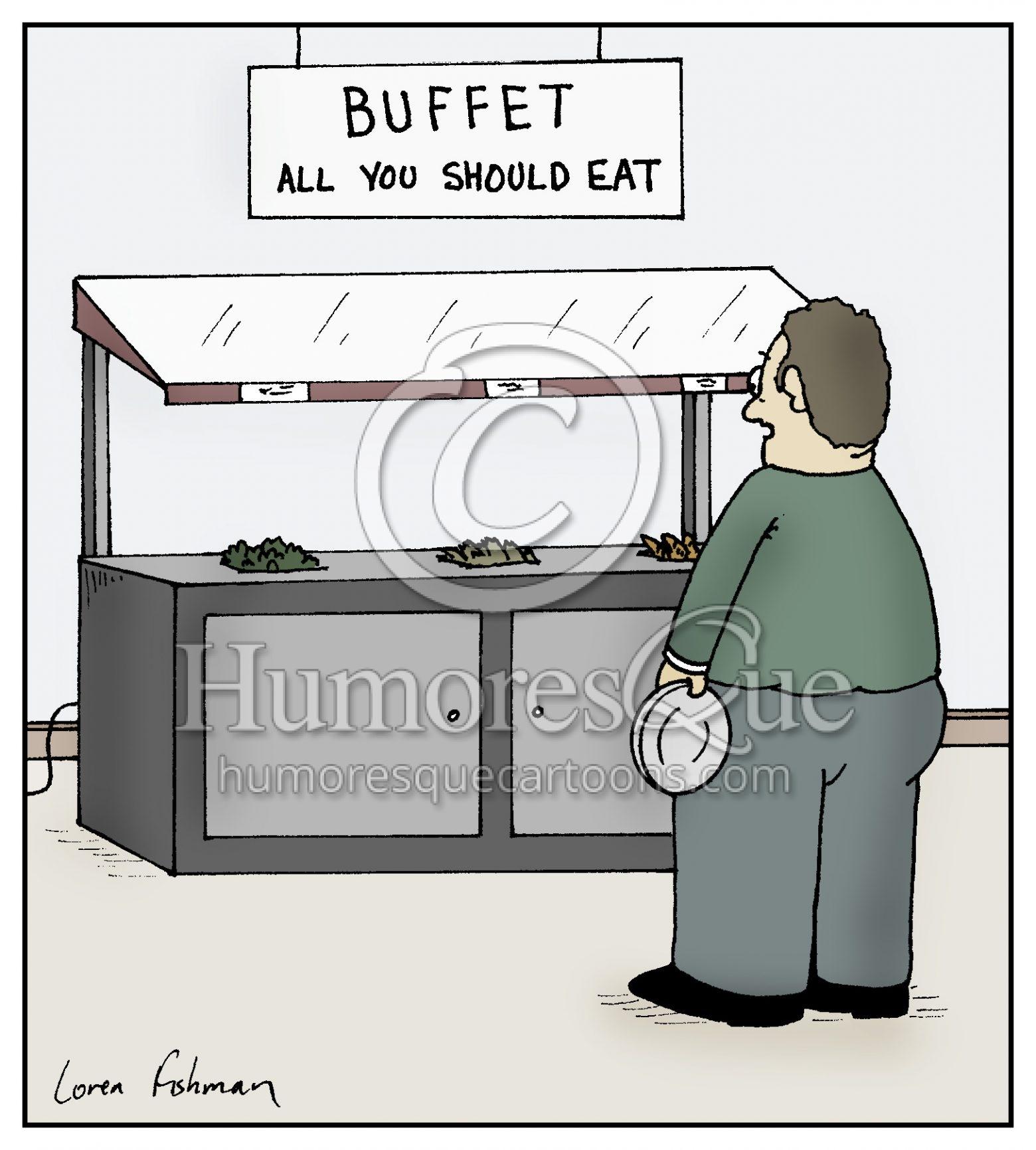 buffet overweight and obesity cartoon