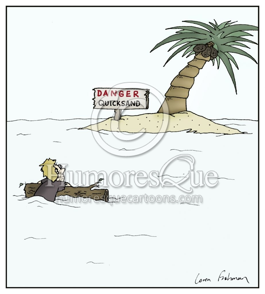 quicksand island cartoon