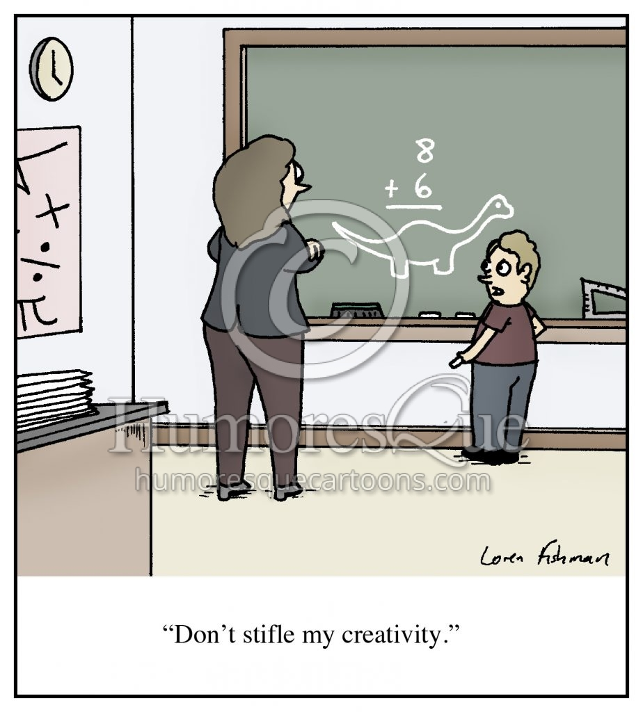 stifling creativity math education cartoon