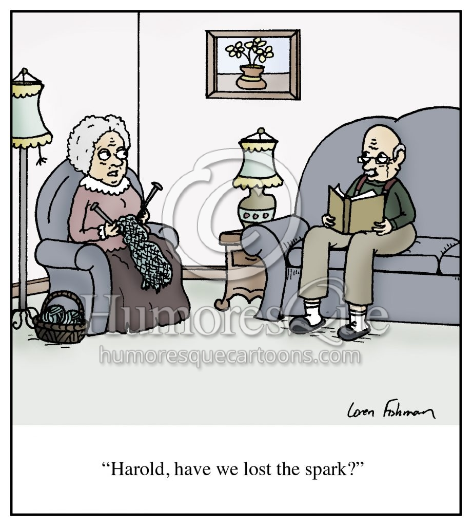 old age and marriage lost the spark cartoon