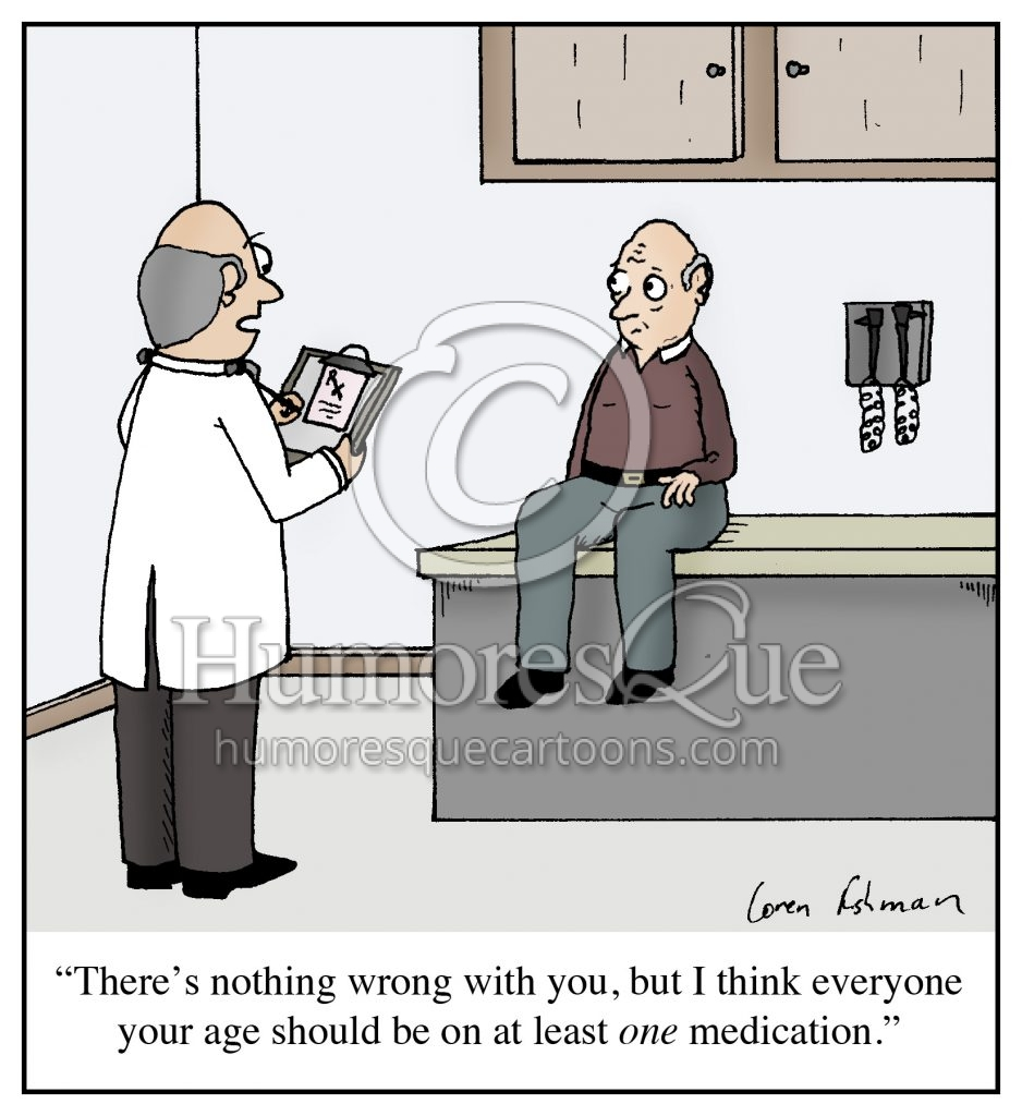 old age prescription drugs cartoon