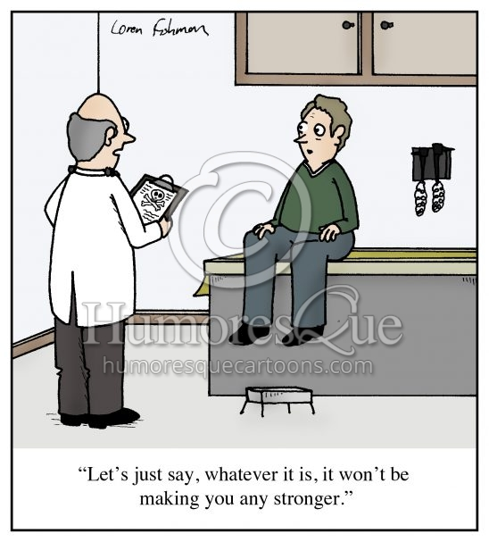 doctor diagnois death cartoon