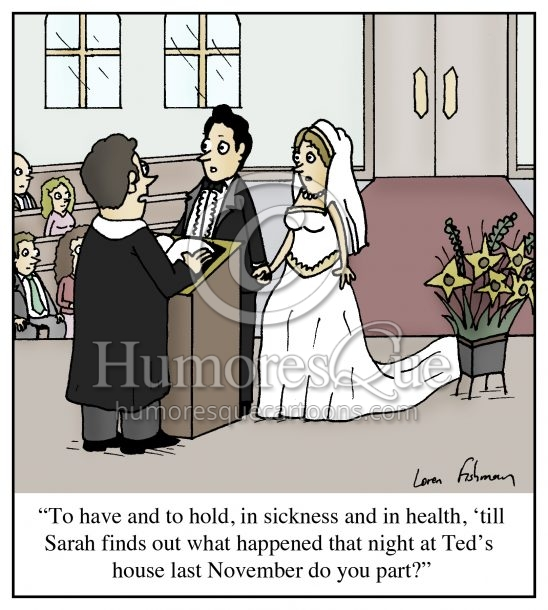 wedding vows cheating husband cartoon
