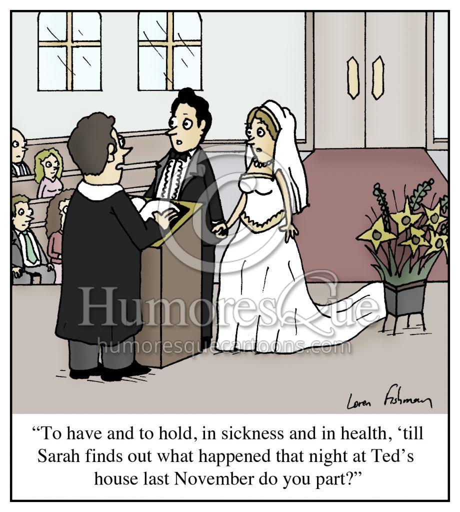 wedding vows cheating husband cartoon