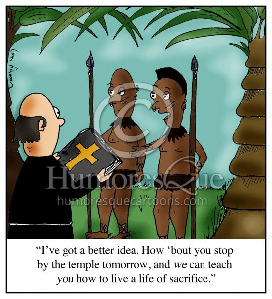 sacrifice missionary anthropology cartoon