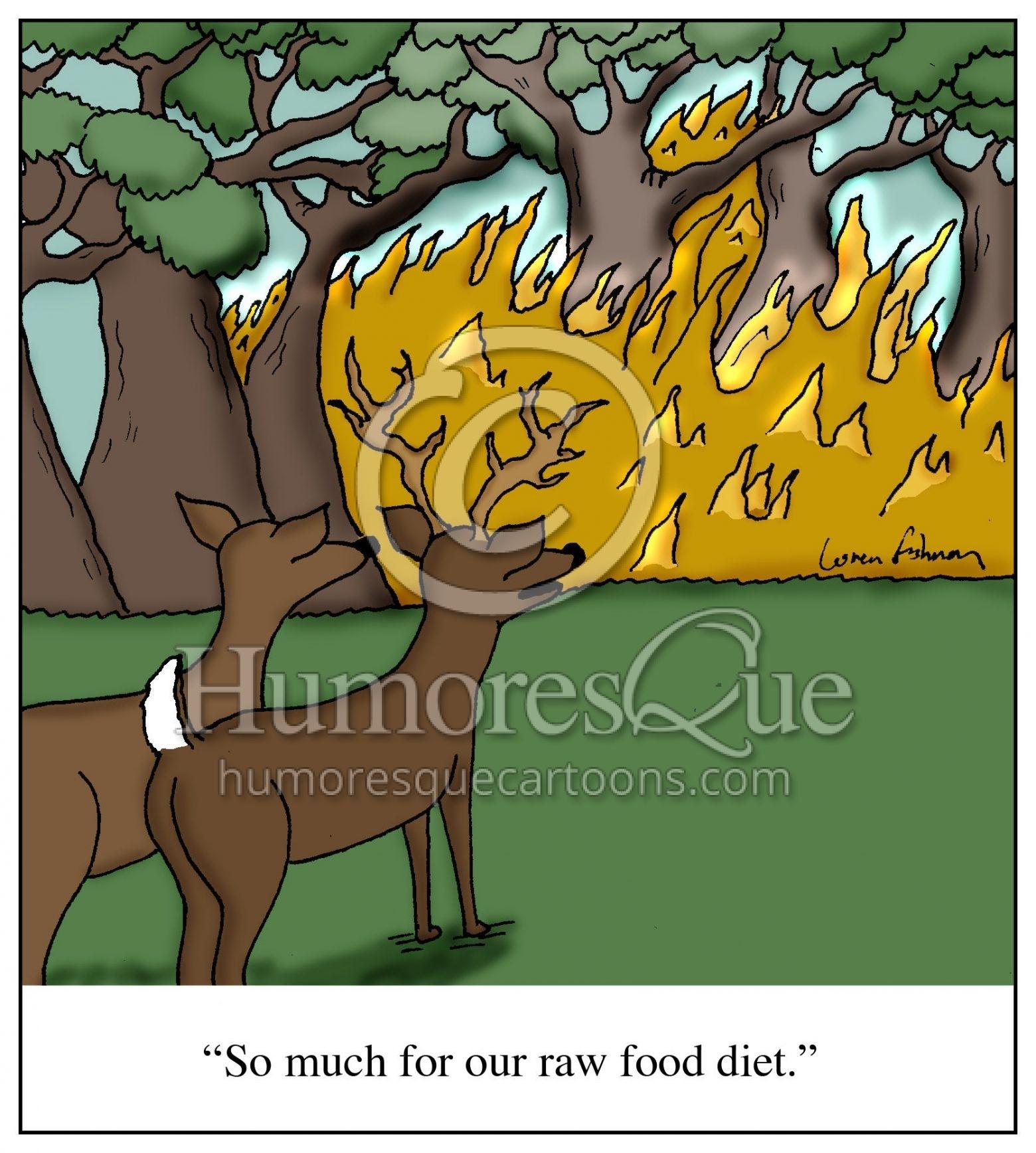 raw food paleo diet cartoon