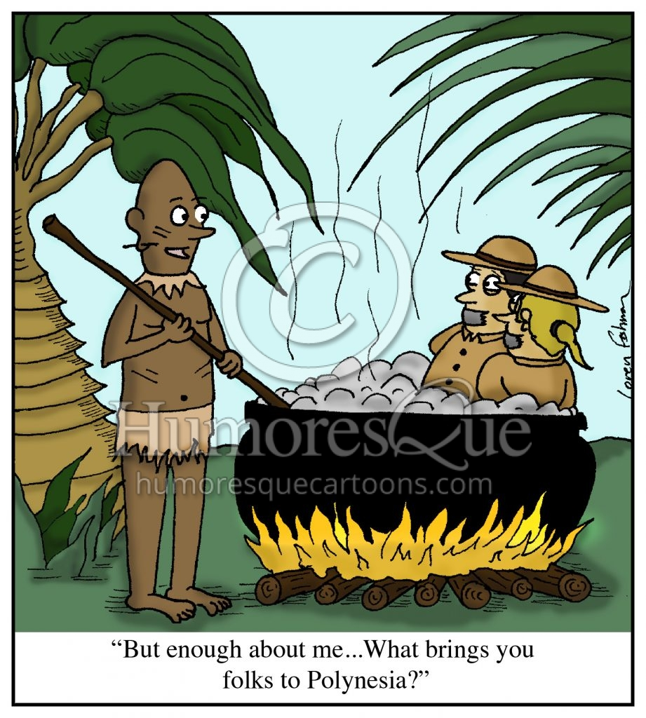 small talk cannibal polynesia cartoon