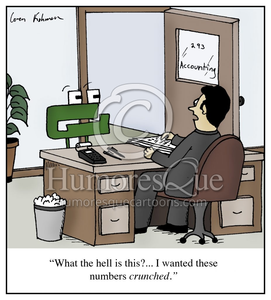 number munchers accounting number crunching cartoon