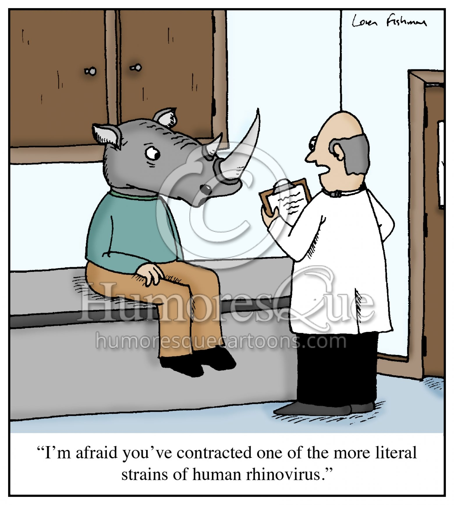 literal rhinovirus medical cartoon