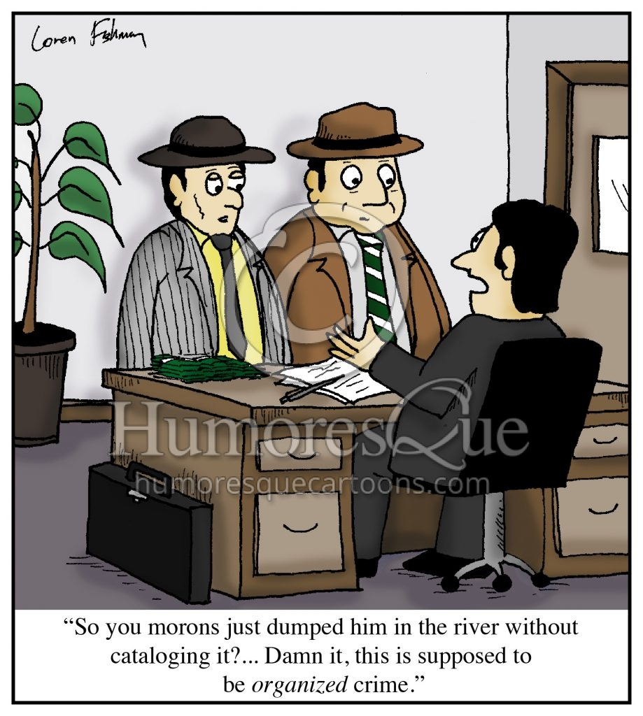 organized crime office cartoon