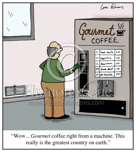 gourmet coffee american ignorace cartoon