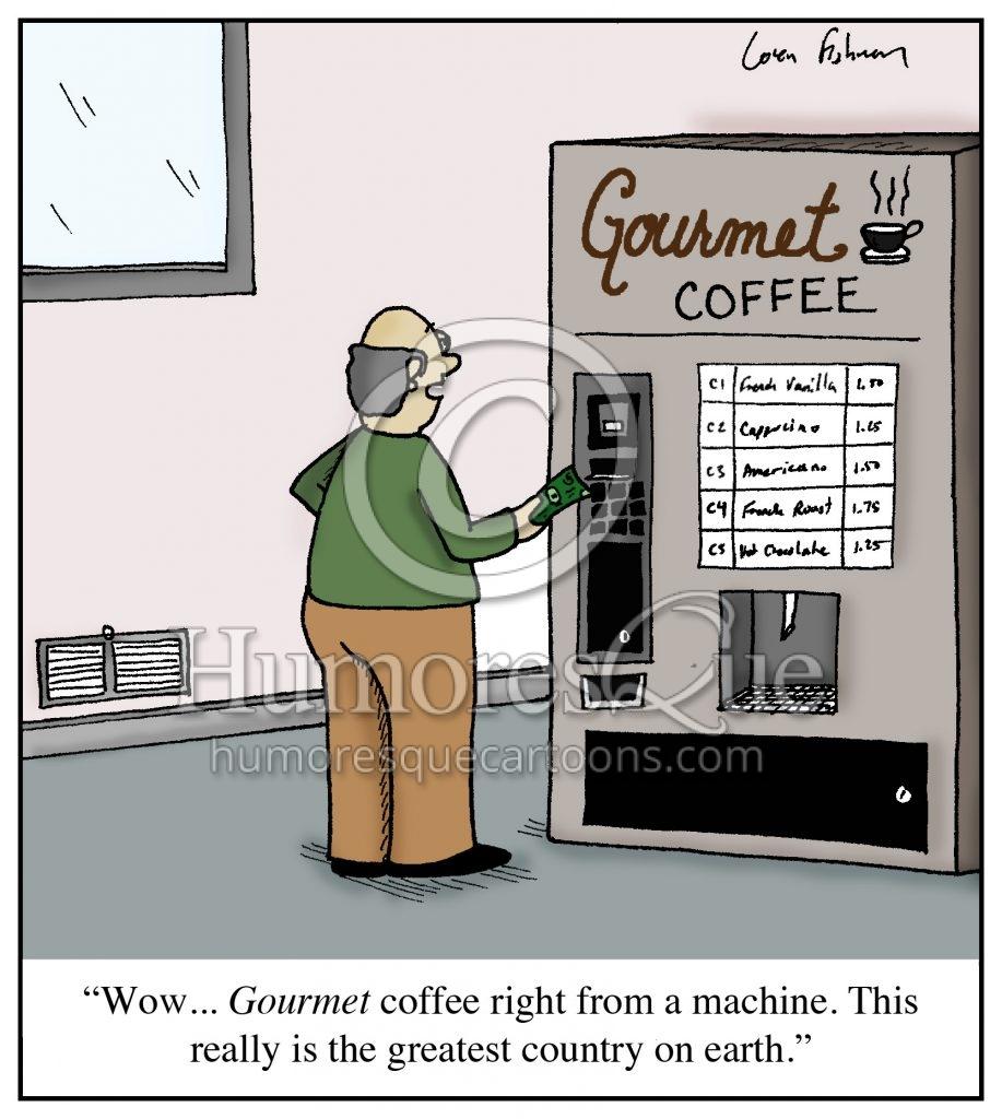 gourmet coffee american ignorace cartoon