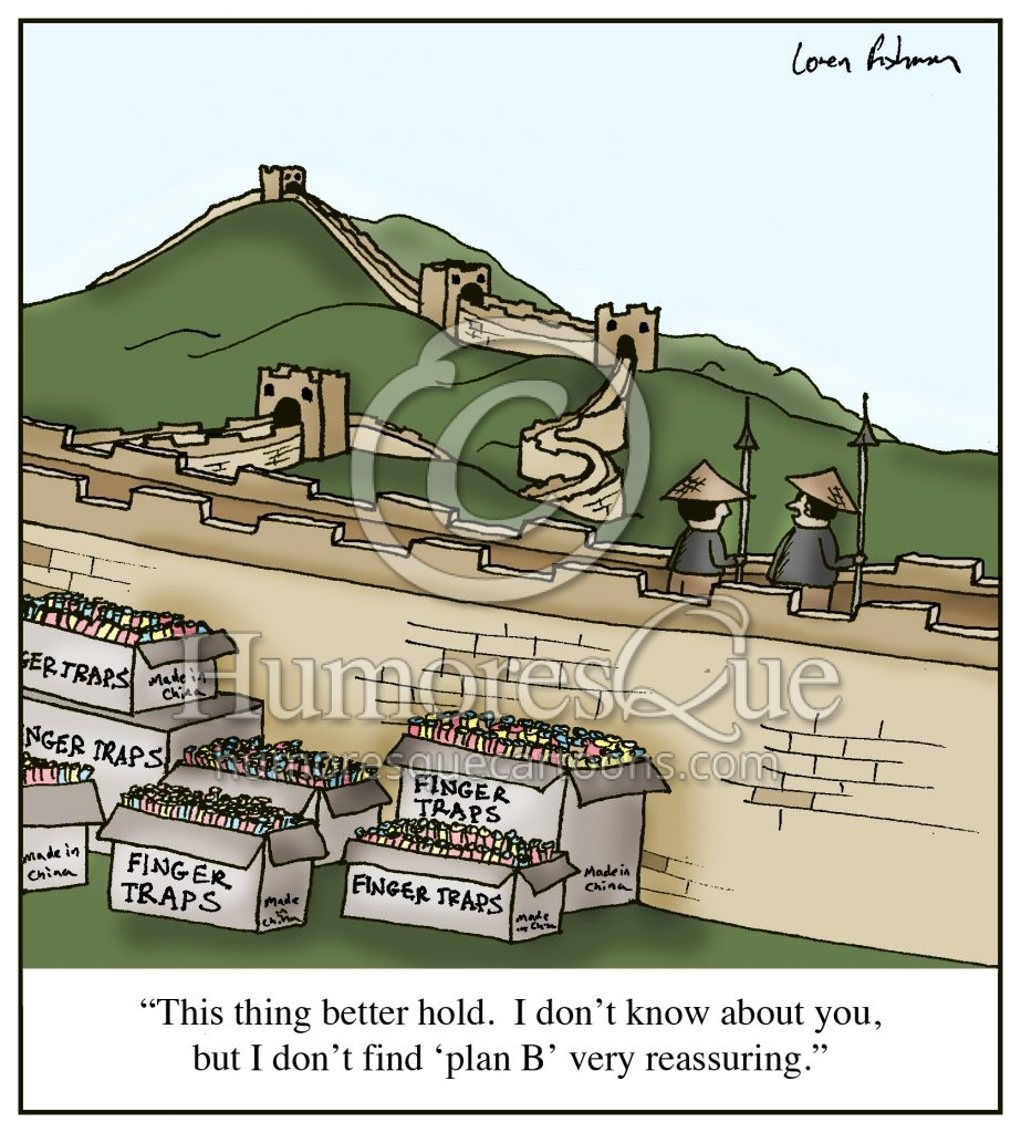 chinese finger traps great wall cartoon