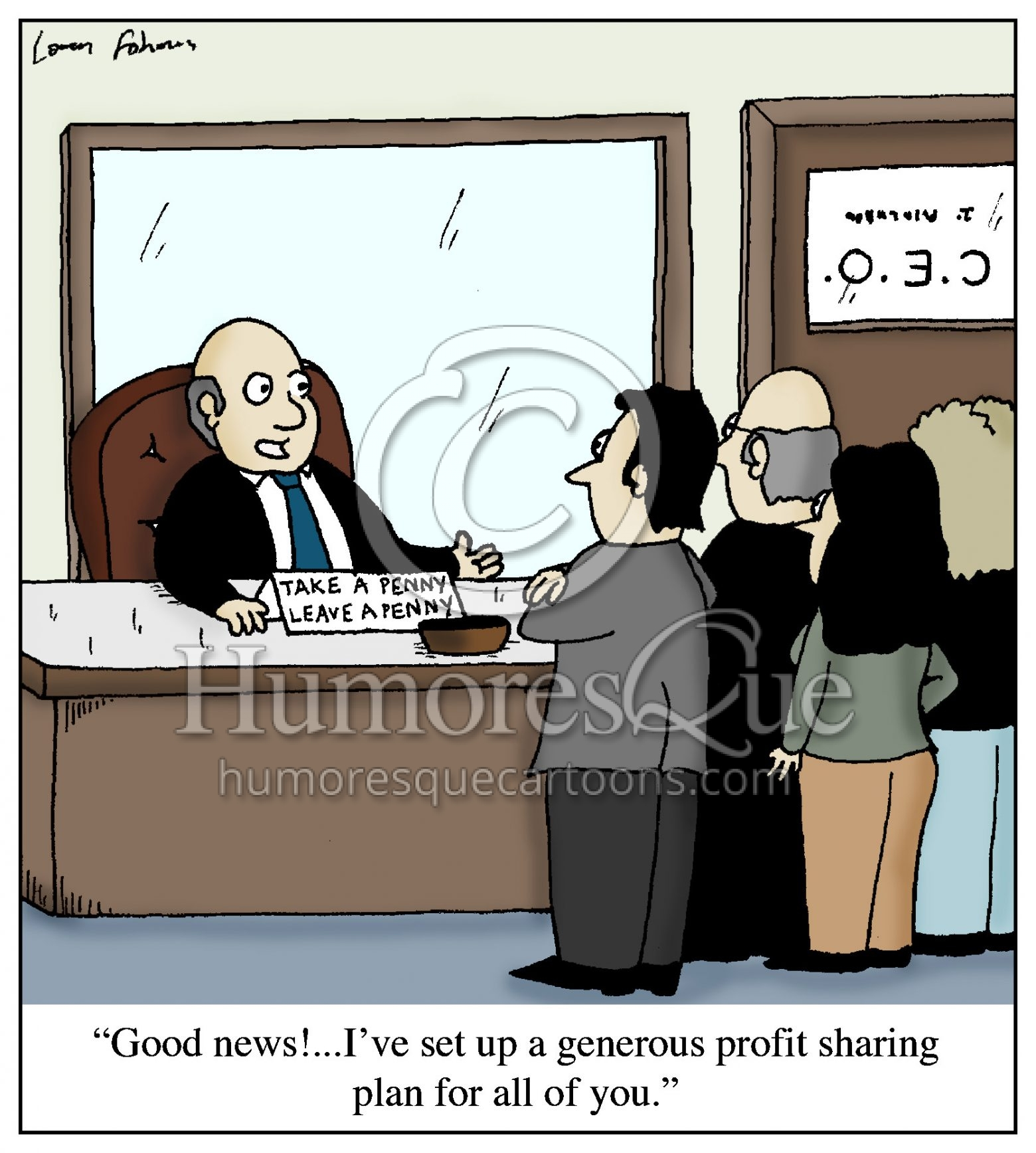 profit sharing cartoon