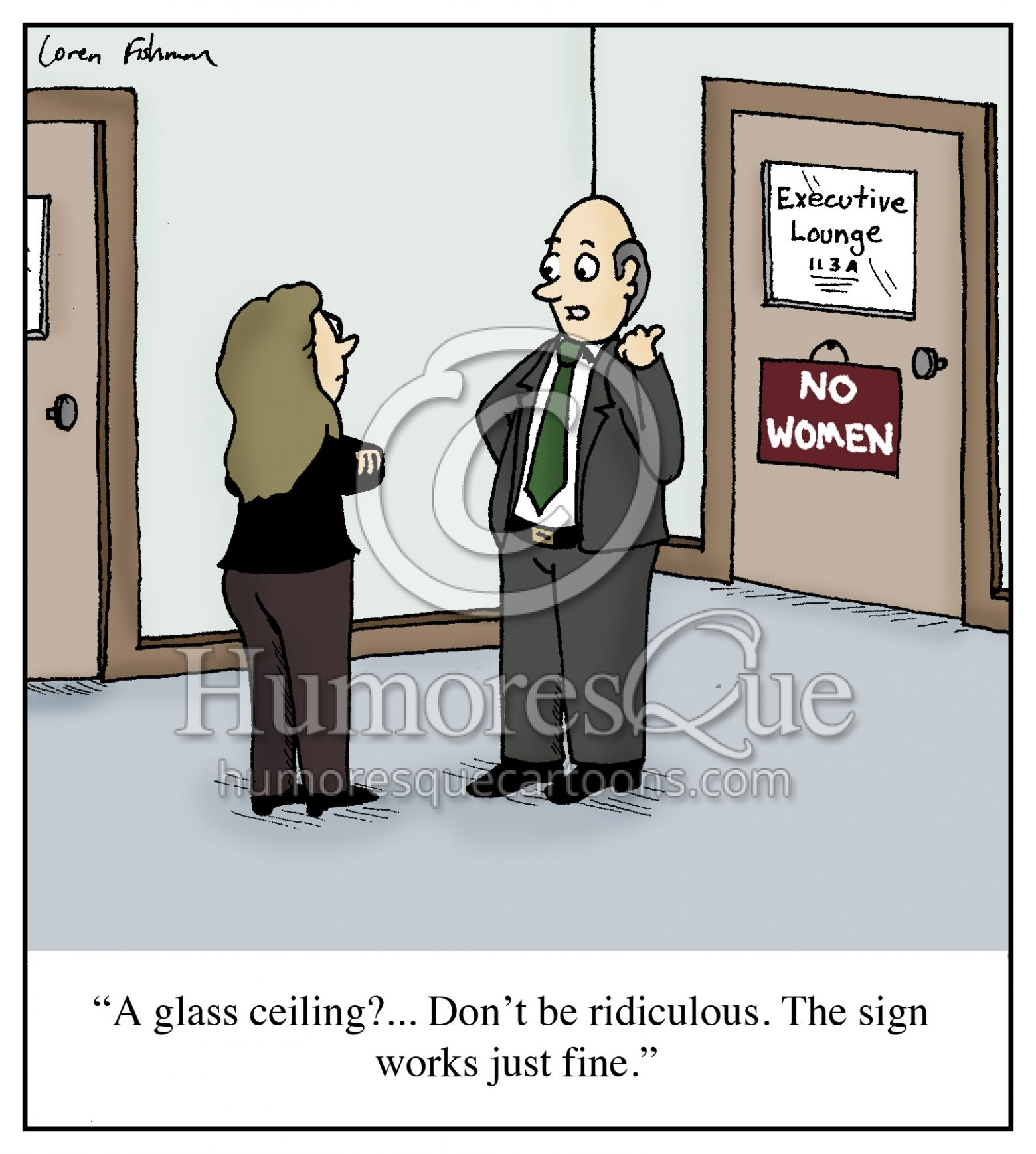 glass ceiling misogyny cartoon