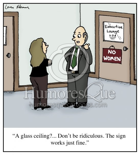 glass ceiling misogyny cartoon