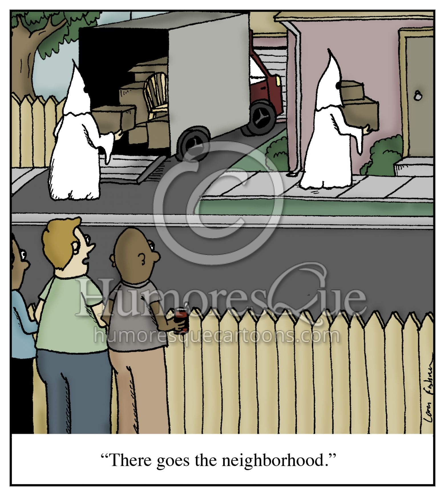 KKK real estate neighborhood cartoon