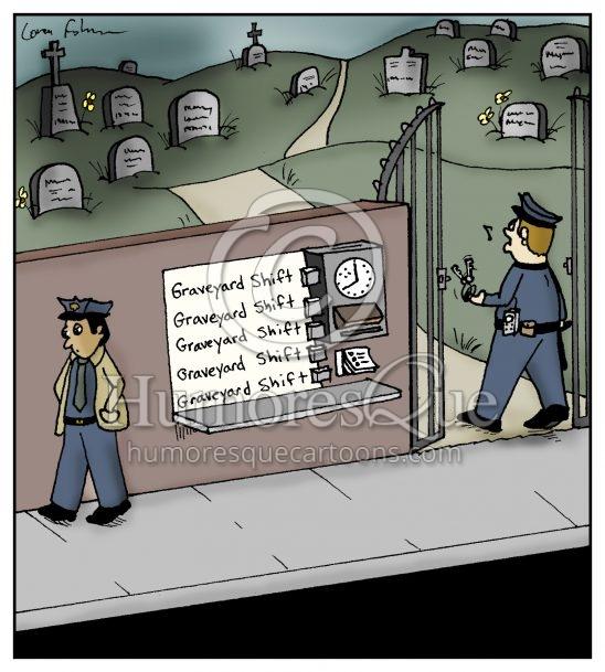 graveyard shift security guard cartoon