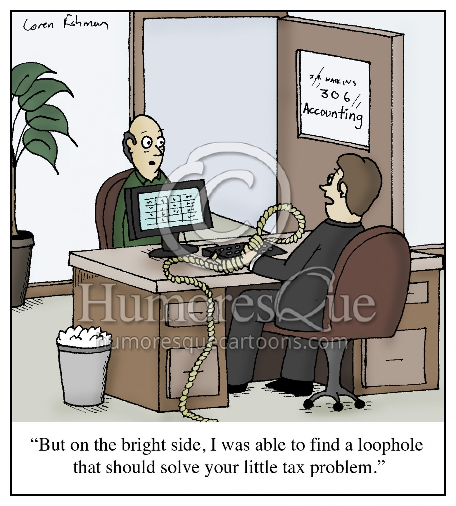 tax loophole accountant cartoon