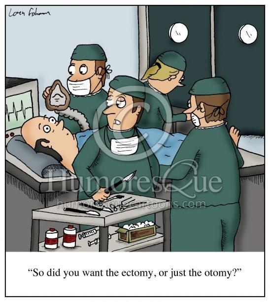 ectomy otomy surgeon cartoon