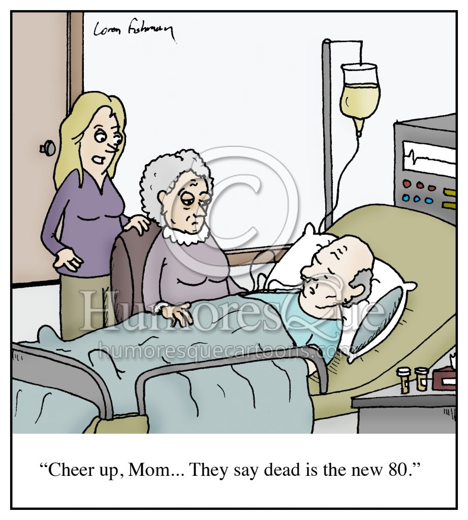 inappropriate death bed comment cartoon