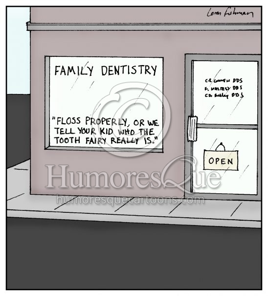 tooth fairy dental cartoon